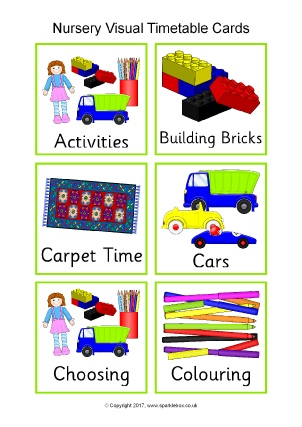 image relating to Free Printable Visual Schedule for Home named Basic Visible Routine Clroom Demonstrate Supplies