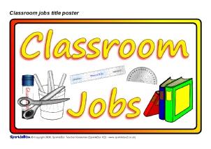 Pupil Jobs on Kindergarten Classroom