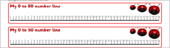 simple 0 50 number lines ref sb3847 a set of simple number lines with ...