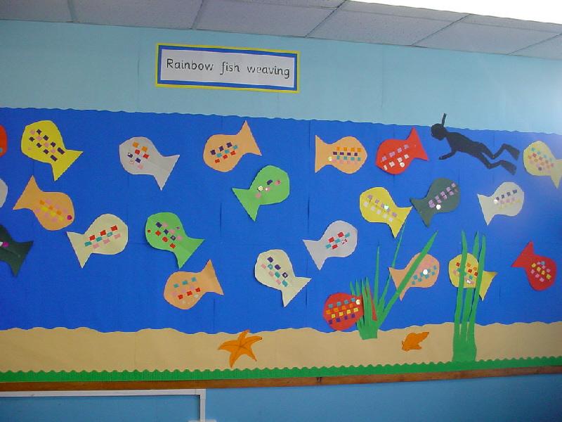 Rainbow Fish Blue Fish Rainbow Fish Weaving Classroom