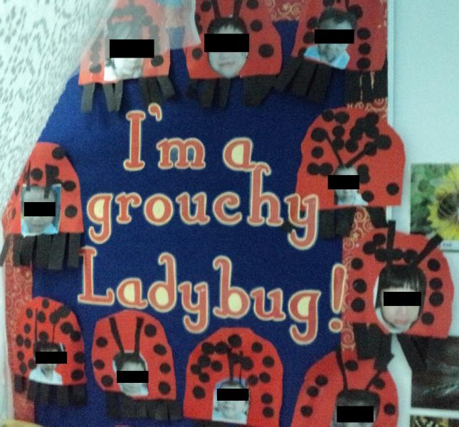 Im A Grouch Ladybug Classroom Display Photo Sparklebox