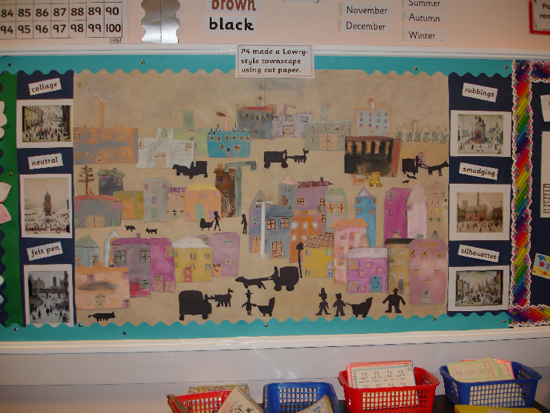 Classroom Display Ideas Victorians ~ Lowry style townscape classroom display photo