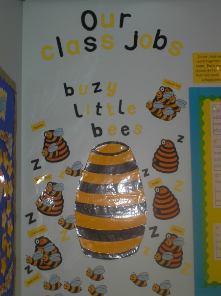 busy bee class job classroom display photo