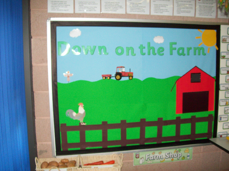 Nursery Classroom Decoration Pictures ~ Down on the farm classroom display photo gallery