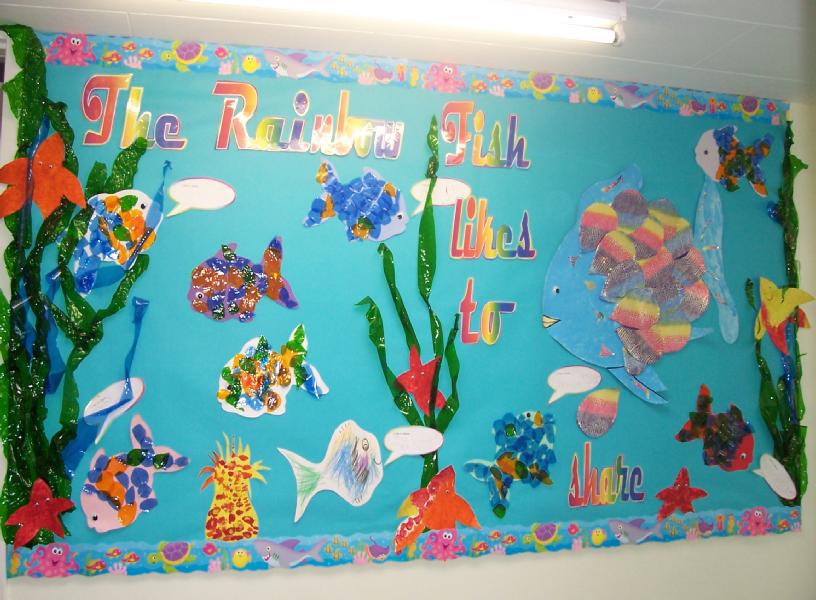 Rainbow Fish Classroom Display Photo Sparklebox
