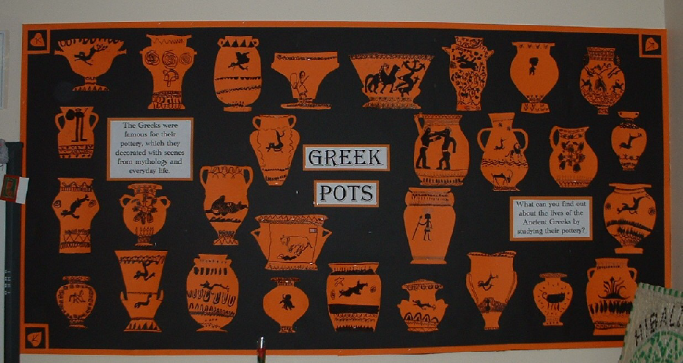 Ancient Greek Pots Classroom Display Photo Sparklebox