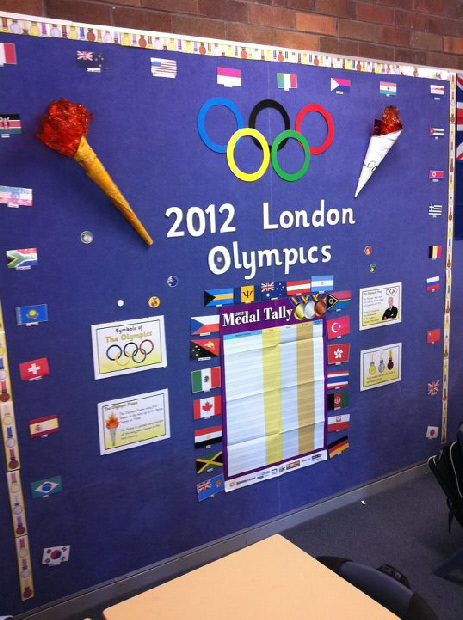 Classroom Decorating Ideas Olympic Theme ~ London olympics classroom display photo