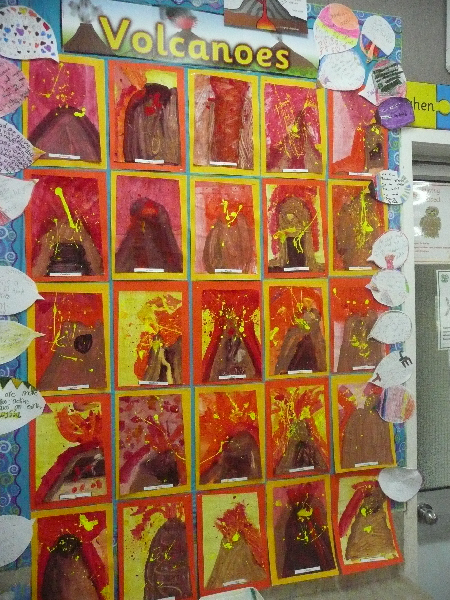 Classroom Decorations Uk ~ Volcanoes classroom display photo gallery sparklebox