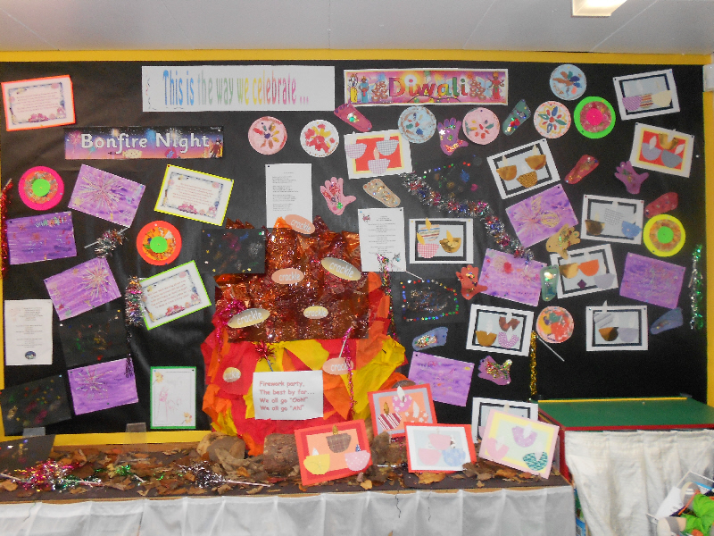 Bonfire Night Diwali Classroom Display Photo Photo