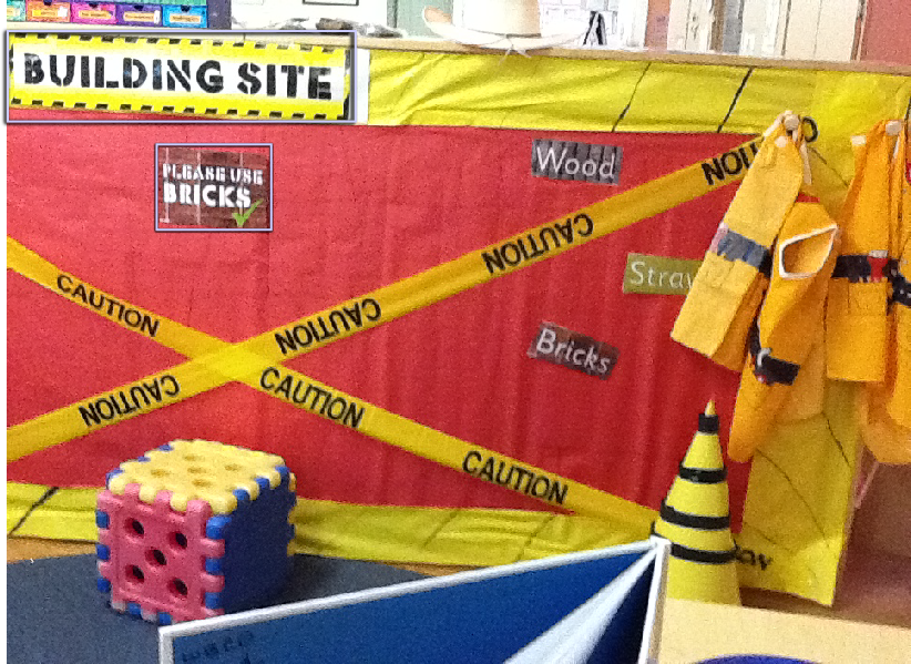 Building Site Classroom Role-Play Area Photo - SparkleBox