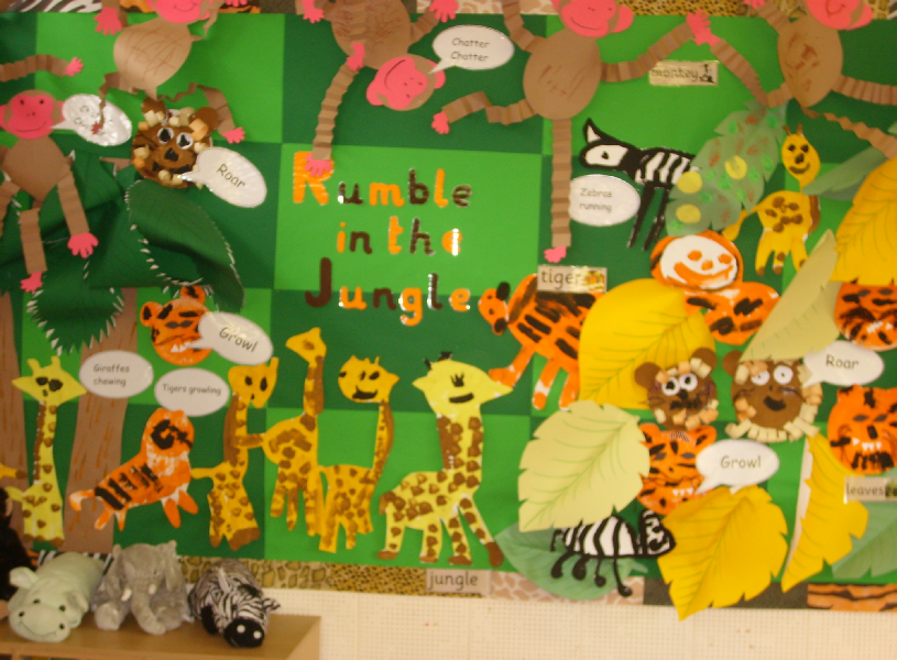 Rumble in the jungle classroom display photo sparklebox for Animal room decoration games