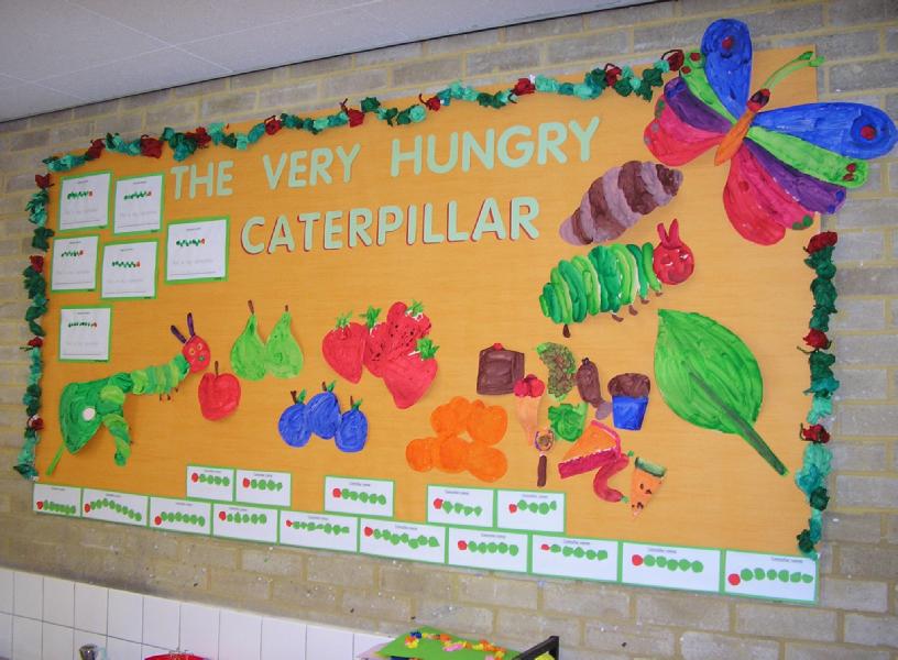 The Very Hungry Caterpillar Classroom Display Photo