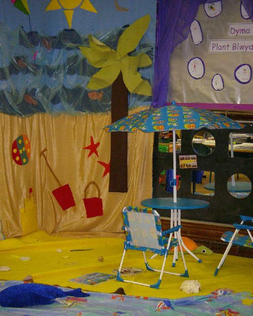 Art Ideas Ourselves Topic: Seaside Role-play Classroom Display Photo