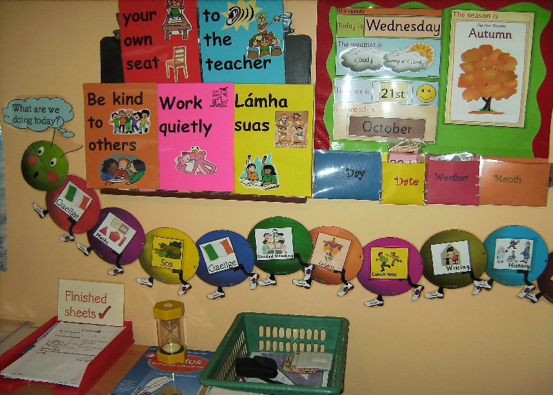 Calendar Ideas Early Years : Calendar and timetable classroom display photo