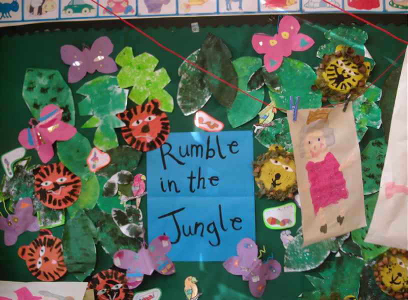 Classroom Door Ideas Jungle ~ Rumble in the jungle classroom display photo gallery