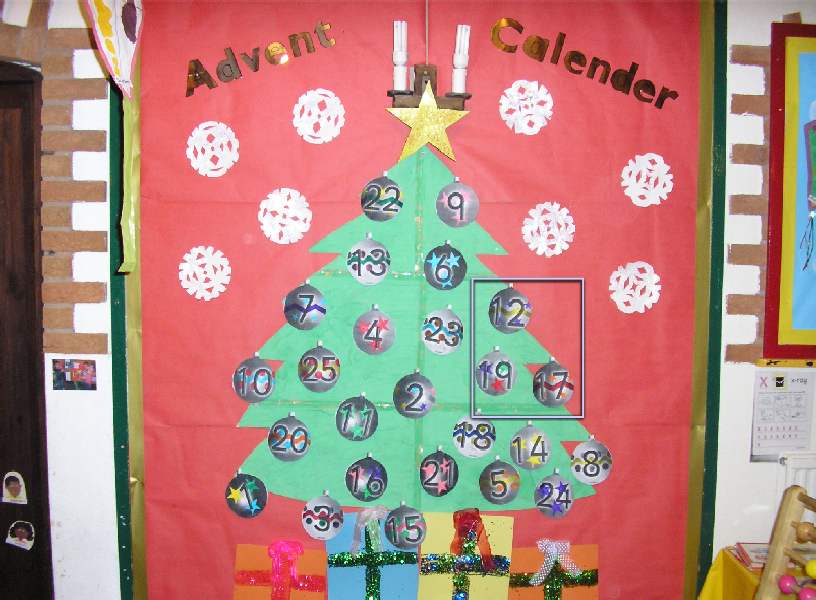 Nursery Christmas Calendar Ideas : Advent calendar classroom display photo sparklebox