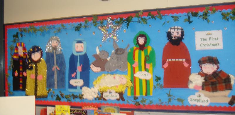 The First Christmas Classroom Display Photo Sparklebox