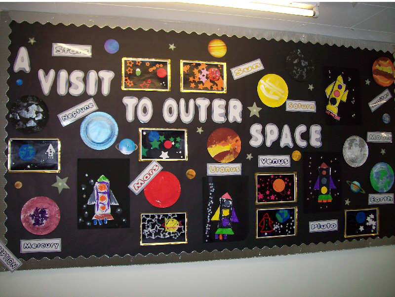 Outer space classroom display photo photo gallery for Outer space classroom decor