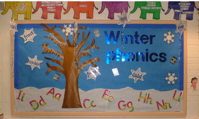 Winter Phonics Classroom Display Photo - SparkleBox