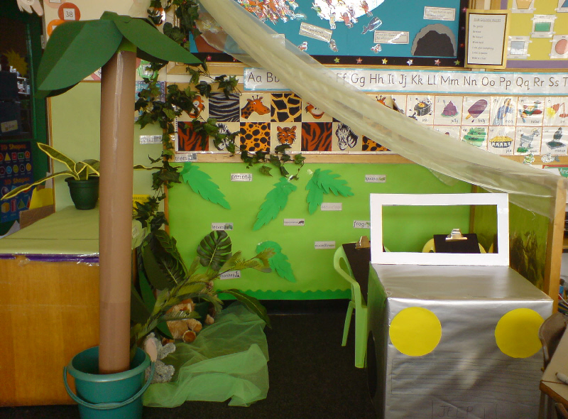Jungle role play classroom display photo photo gallery for Jungle themed playroom