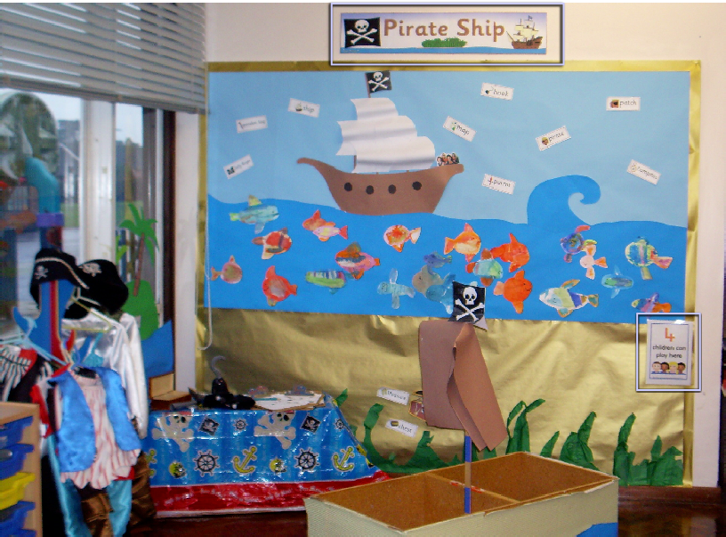 Classroom Theme Ideas For Preschool : Pirate ship classroom role play area photo sparklebox