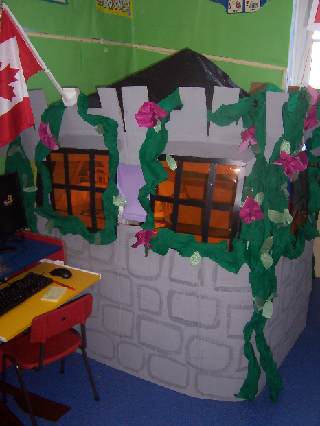 Fairytale castle role- play area from Dawn