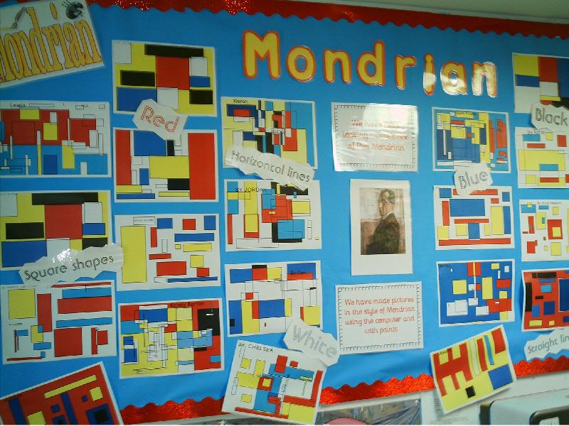 Mondrian Ict Art Classroom Display Photo Photo Gallery