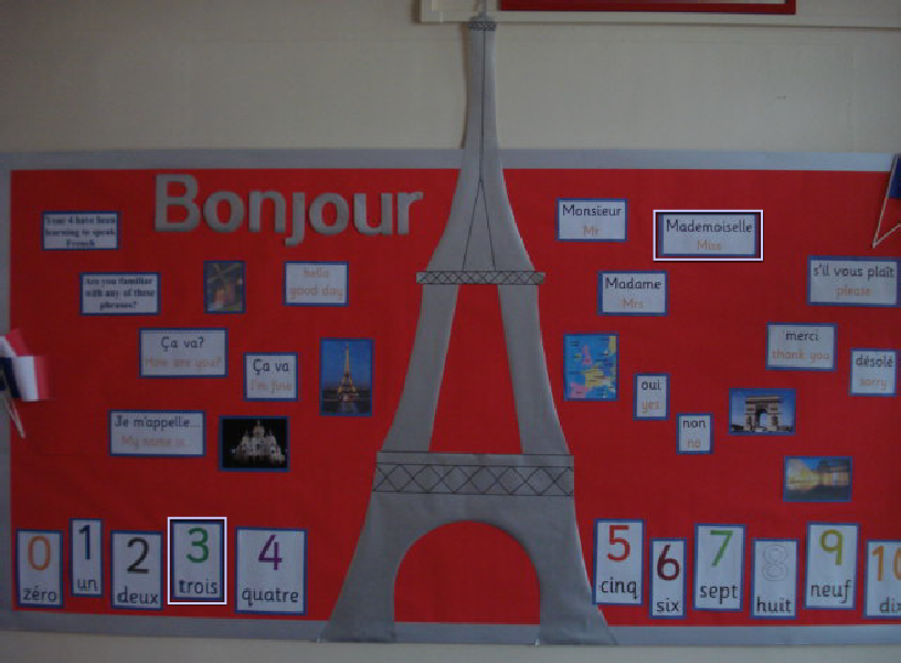 french classroom display photo