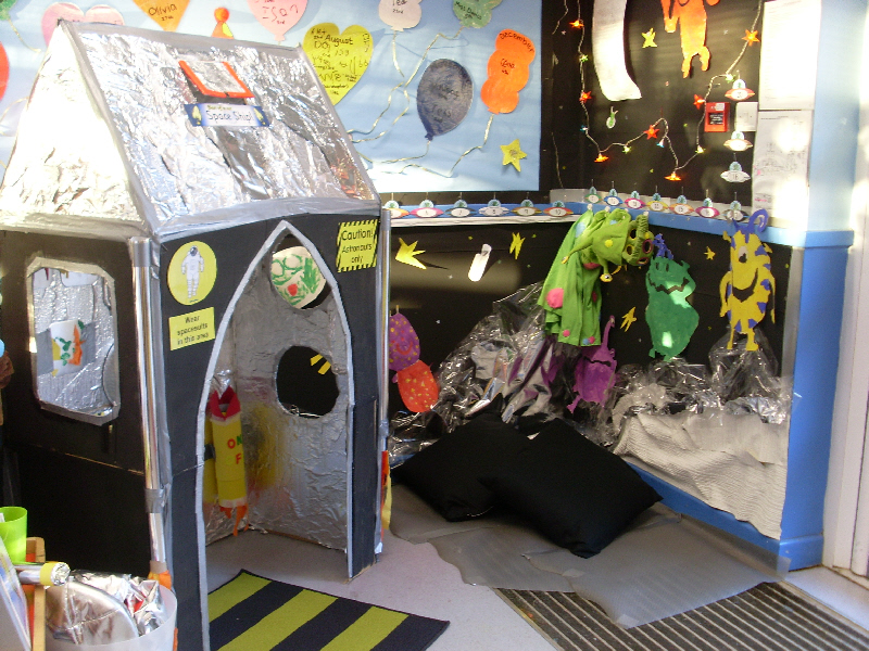 Rocket role play area classroom display photo photo gallery sparklebox - Outer space classroom decorations ...