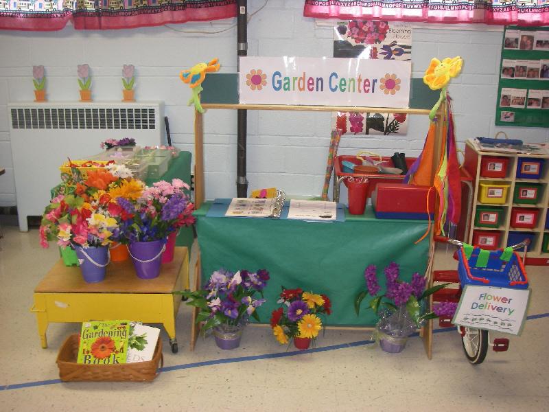 Garden centre role play classroom display photo Photo