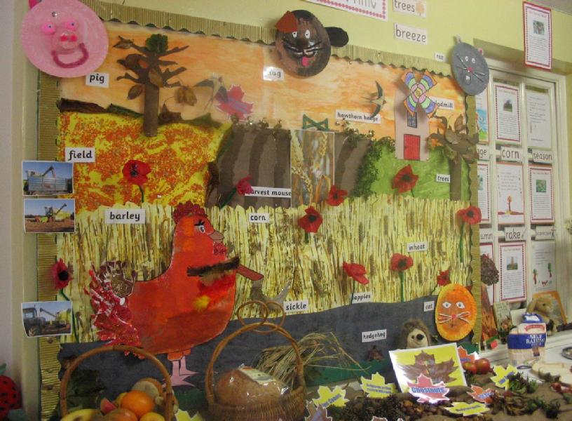 Little Red Hen Harvest Classroom Display Photo Sparklebox
