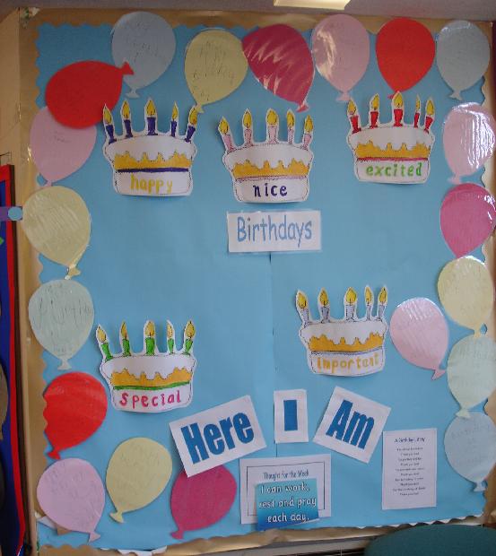 Birthday Board Classroom Display Photo