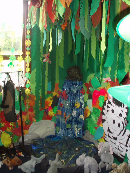 Rainforest role play area classroom display photo photo gallery