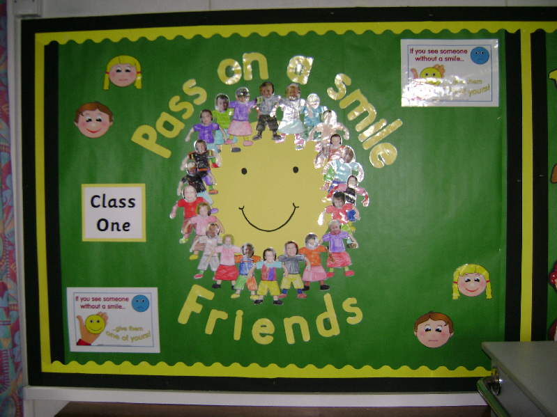 Pass on a smile classroom display photo - Photo gallery ...