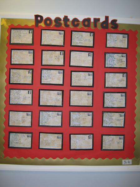 Classroom Display Ideas Year 4 ~ World war two postcards year classroom display photo