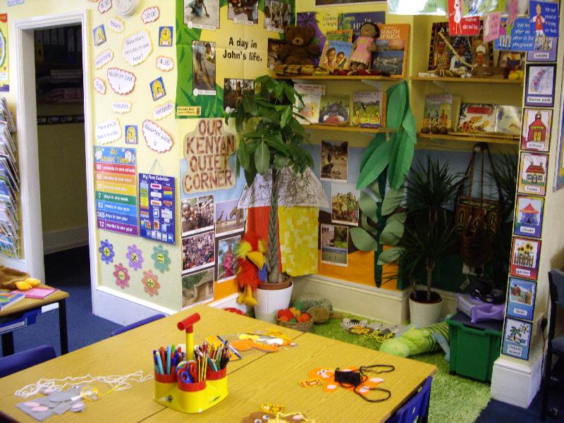 Kenya Themed Quiet Area Classroom Display Photo Photo
