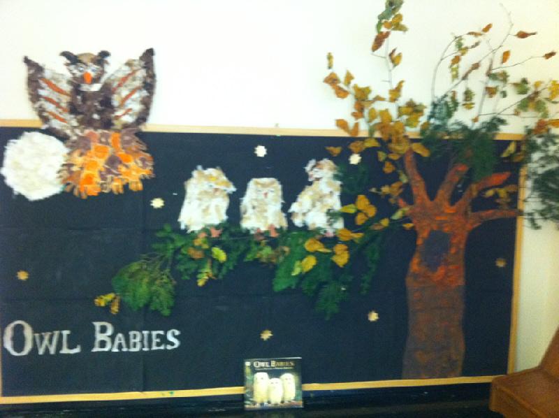 Ideas In Classroom ~ Owl babies role play area classroom display photo
