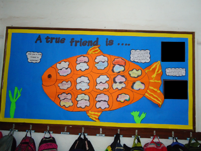 Friendship Value Board classroom display photo - SparkleBox