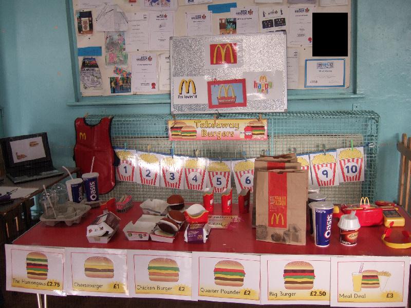 how to make a good food box display board