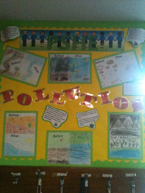 Classroom Decoration Ideas With Charts ~ Pshe pollution classroom display photo sparklebox