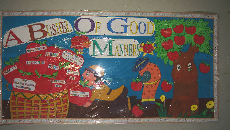 A Bushel of Good Manners classroom display photo SparkleBox