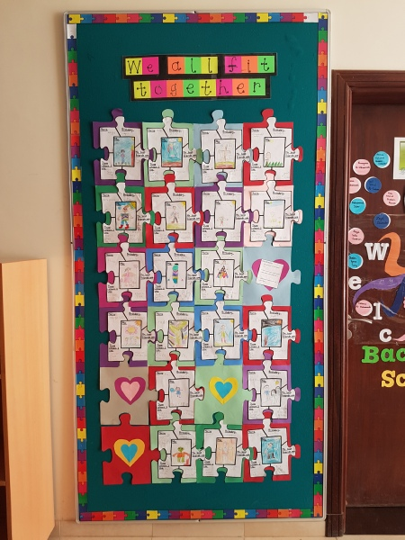 "Classroom Bulletin Board Decoration Ideas ~ ""we all fit together classroom display photo sparklebox"