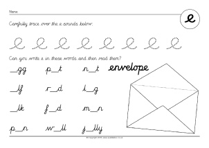 Worksheets Cursive Alphabet Worksheets cursive alphabet and sounds worksheets sparklebox phoneme e sb11228