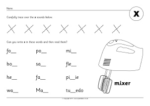 Letter X Phonics Activities and Printable Teaching Resources ...