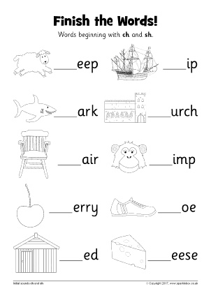 Words With Ch Phonics Activities And Printable Teaching Resources Sparklebox