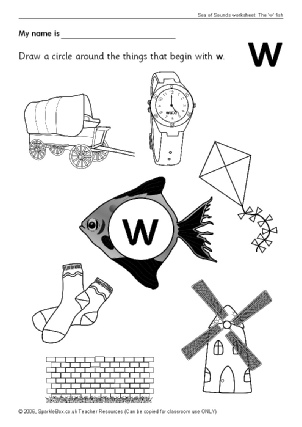 Letter W Phonics Activities and Printable Teaching Resources ...