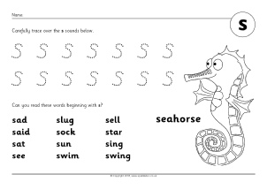 Letter S Phonics Activities and Printable Teaching Resources ...