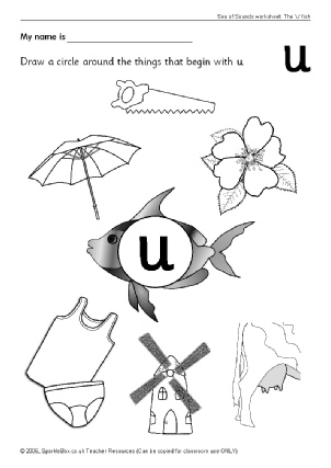 Letter U Phonics Activities and Printable Teaching Resources ...