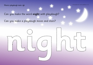 Worksheets Igh Words Phonics words with igh phonics activities and printable teaching playdough mats sb4675