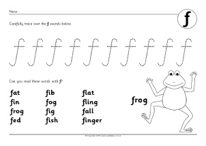 Letter F Phonics Activities and Printable Teaching Resources ...